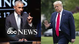 Trump fires back at Obama after implied dig in commencement address l ABC News