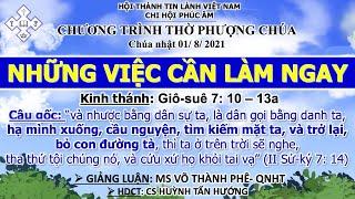 HTTL PHÚC ÂM -  Chương Trình Thờ Phượng Chúa - 01/08/2021