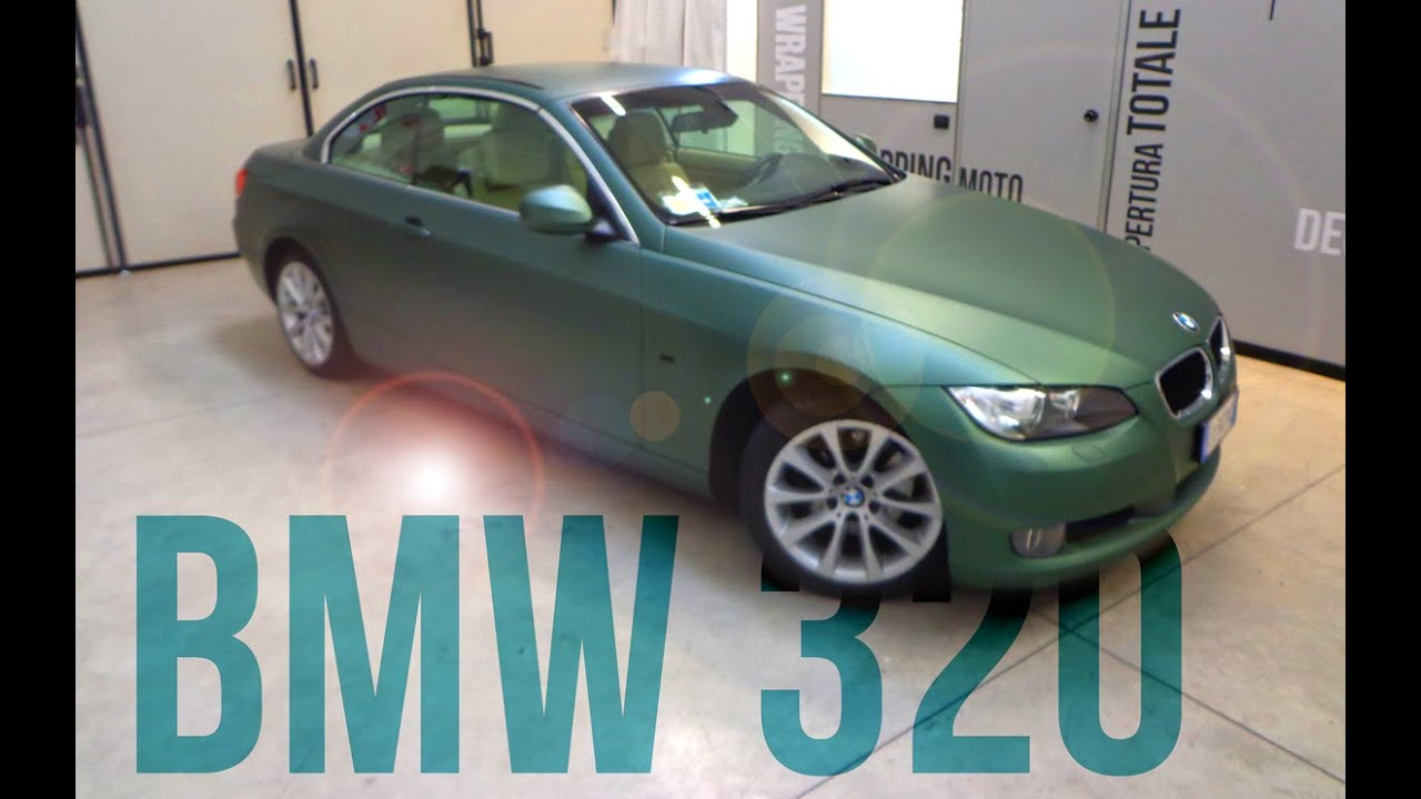 Car wrapping bmw 320 cabrio pine green metallic youtube for T green srl