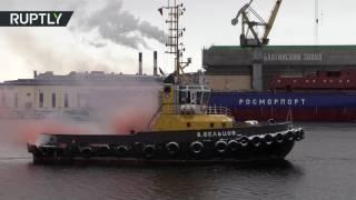 Российские морпехи освободили экипаж буксира «Владимир Бельцов» от условных пиратов