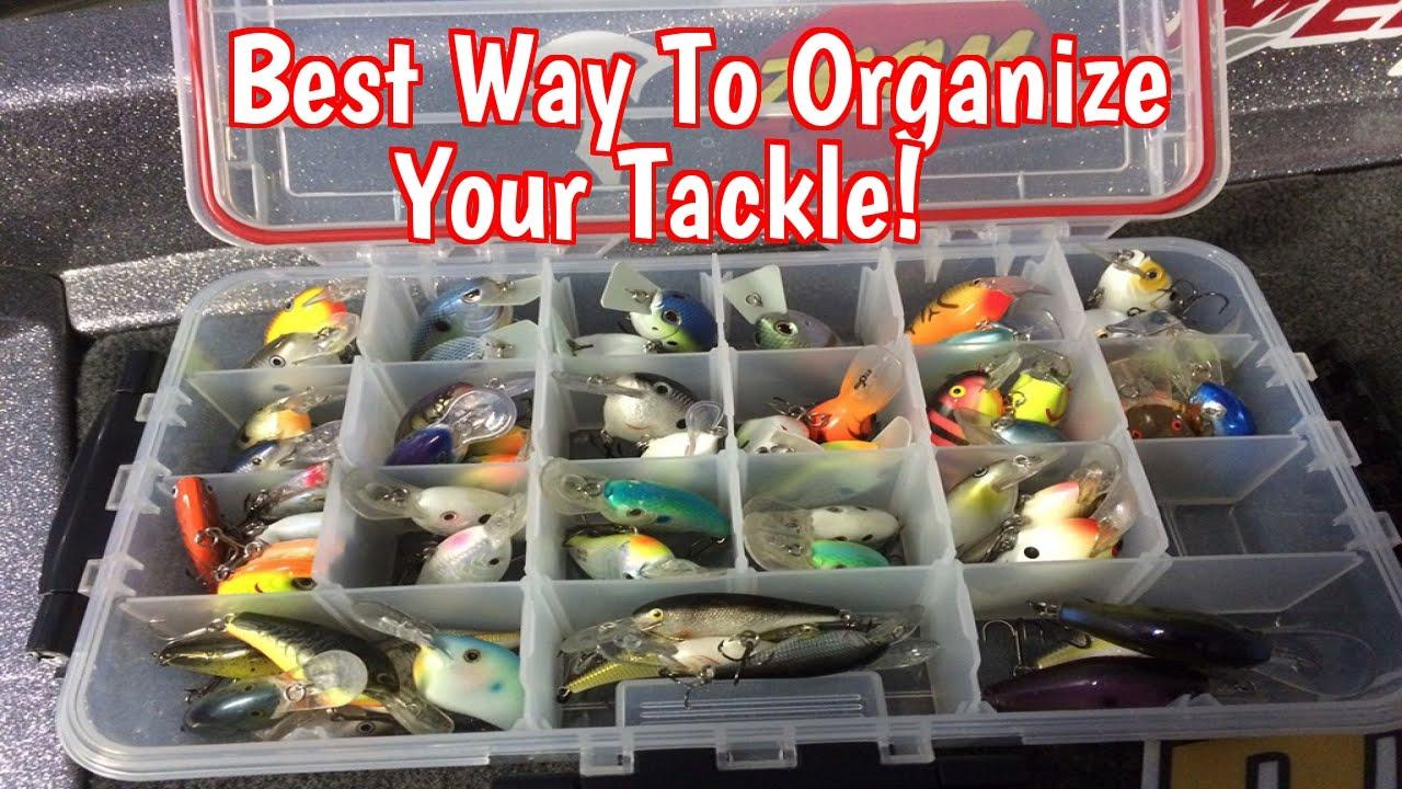 Tackle box organization for bass fishing youtube for Fishing tackle organization