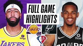 LAKERS at SPURS | FULL GAME HIGHLIGHTS | October 26, 2021 Thumb