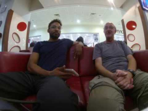 IAW Interview in the Al Waha shopping mall in Khartoum, Sudan with Mr. Graham Askey of Britain.