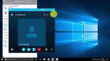 Mit Skype for Business Konferenzen durchführen