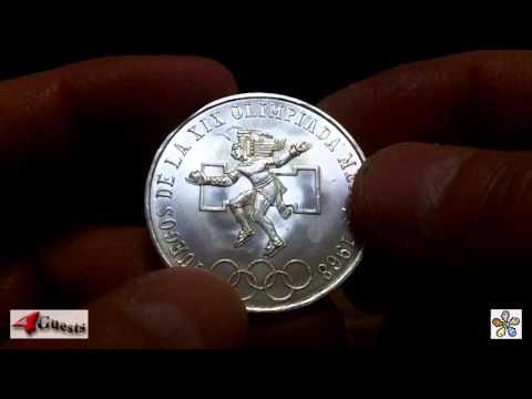 Mexico Silver Coin, 25 Pesos Olympic Games Commemorative