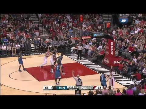 Minnesota Timberwolves vs Portland Trail Blazers   April 9, 2016   NBA 2015-16 Season