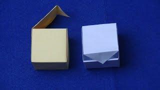 Xếp giấy Origami-Gấp hộp giấy có nắp