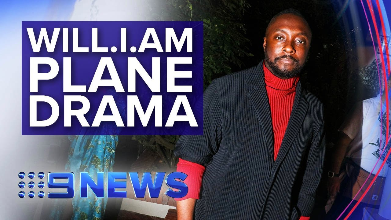 Will.i.am says he was racially targeted by Qantas flight attendant | Nine News Australia