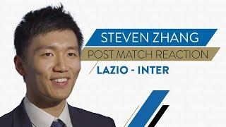 "LAZIO 0-3 INTER | Steven Zhang Interview: ""Everyone gave 100 percent"""