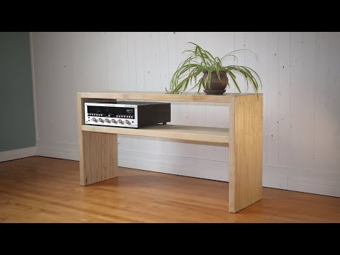 Plywood TV stand with a twist!