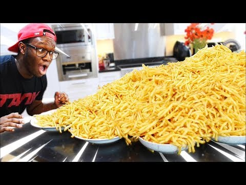 10,000 McDonald's French Fry Challenge (102,000 Calories)