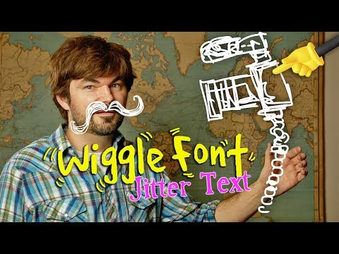 REAL Wiggle Font Animated Text For Video! HOW TO - (Animation Creator App)! by Knoptop