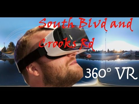 South Blvd and Crooks Rd || Time lapse || Troy || Michigan || United States || VR 360