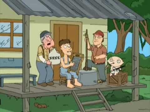 Stewie playing Banjo