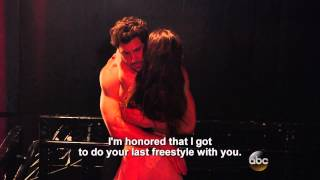 maks and meryl s saccharine backstage bits from dwts season 18 finale