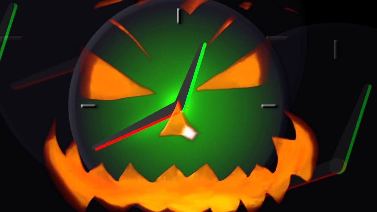 Halloween Countdown timer 1 minute - clock 60 seconds with sound ...