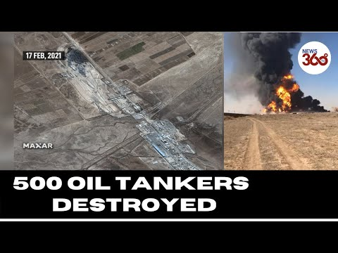 Satellite Images Show 500 Oil Tankers Destroyed On Afghanistan-Iran Border- News 360 Tv