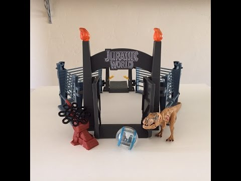 Jurassic World Tyrannosaurus rex Lockdown Playset Review