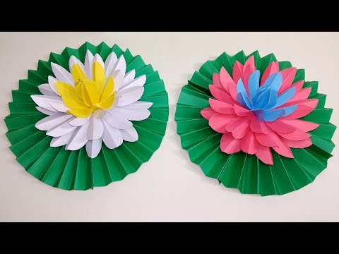How to Make Very Beautiful Water Lily Flower with Paper | Paper Water Lily |Jarine's Crafty Creation
