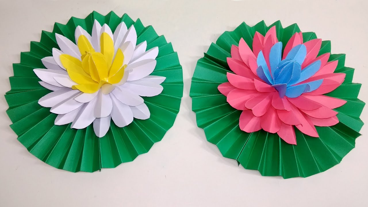 flower of the month: water lilies | Flower crafts, Paper flowers ... | 720x1280