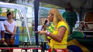 Graffiti artists in Brazil combat violence against women