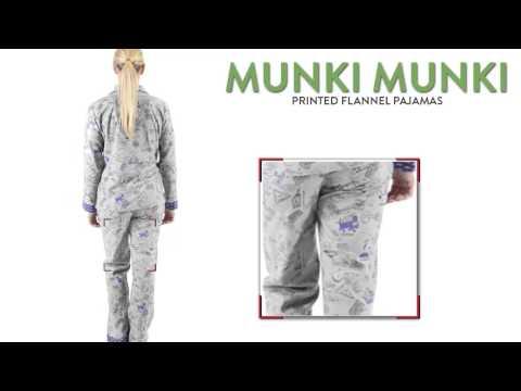 Munki Munki Printed Flannel Pajamas