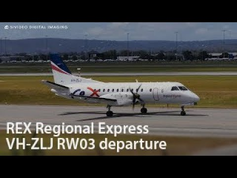 REX Regional Express (VH-ZLJ) Saab 340B departing RW03.