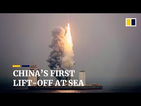 China's first satellite launch from floating sea platform sees it rocket ahead in space race