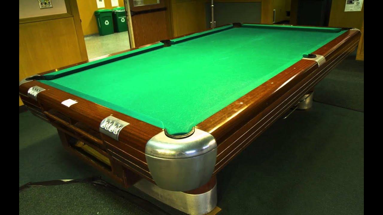 8 U 9007 1967 Brunswick 9 Billiard Table Youtube