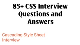 Download lagu CSS Interview Questions and Answers MP3