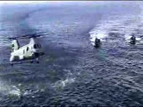 CH-46 Sea Knight helicopter crashes into aircraft carrier then sinks. Killing 7....