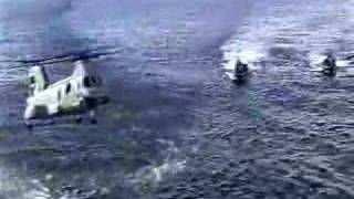 CH-46 Sea Knight helicopter crashes into  Military Sealift Command Vessel then sinks. Killing 8....