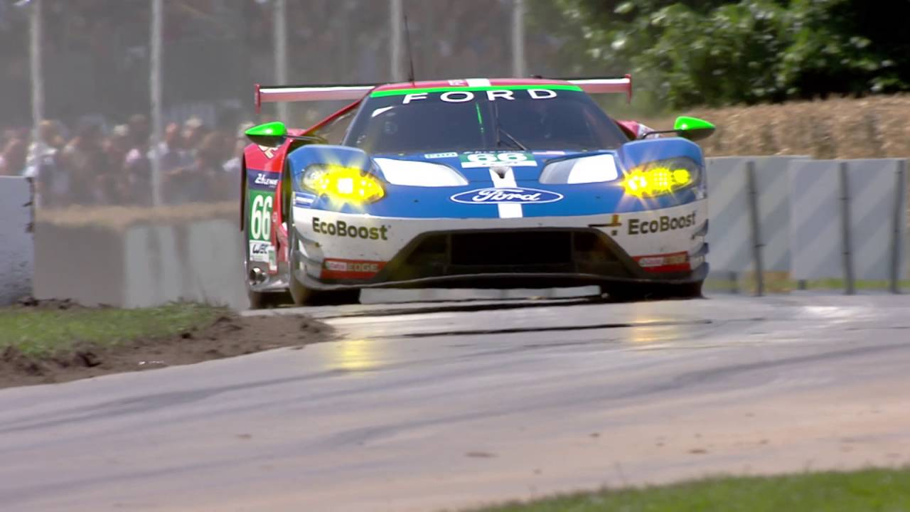 The Ford Gt Race Car Climbs The Hill At Goodwood Festival Of Speed Youtube