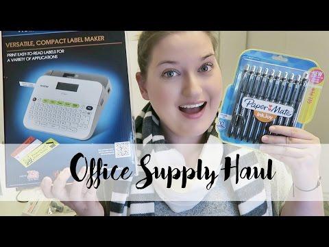 Office Supply Haul