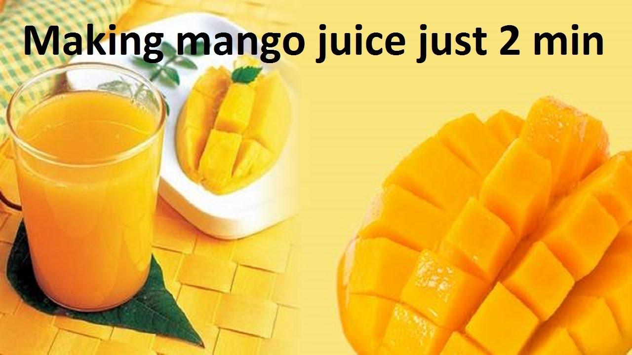 How to Make Mango Juice