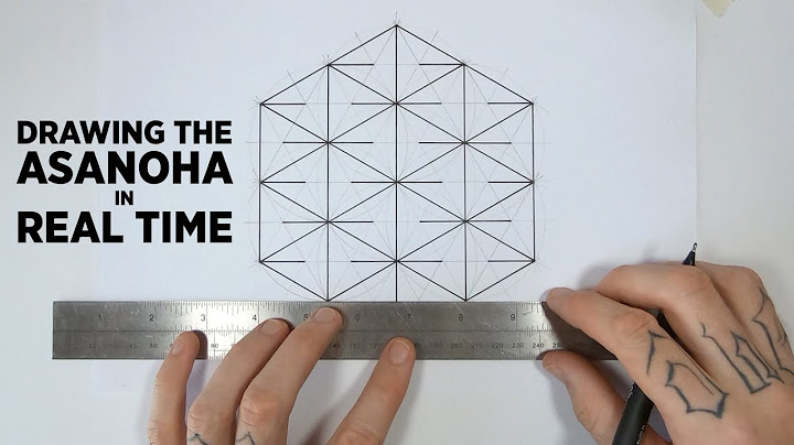 how to draw the asanoha pattern  real time sacred geometry drawing