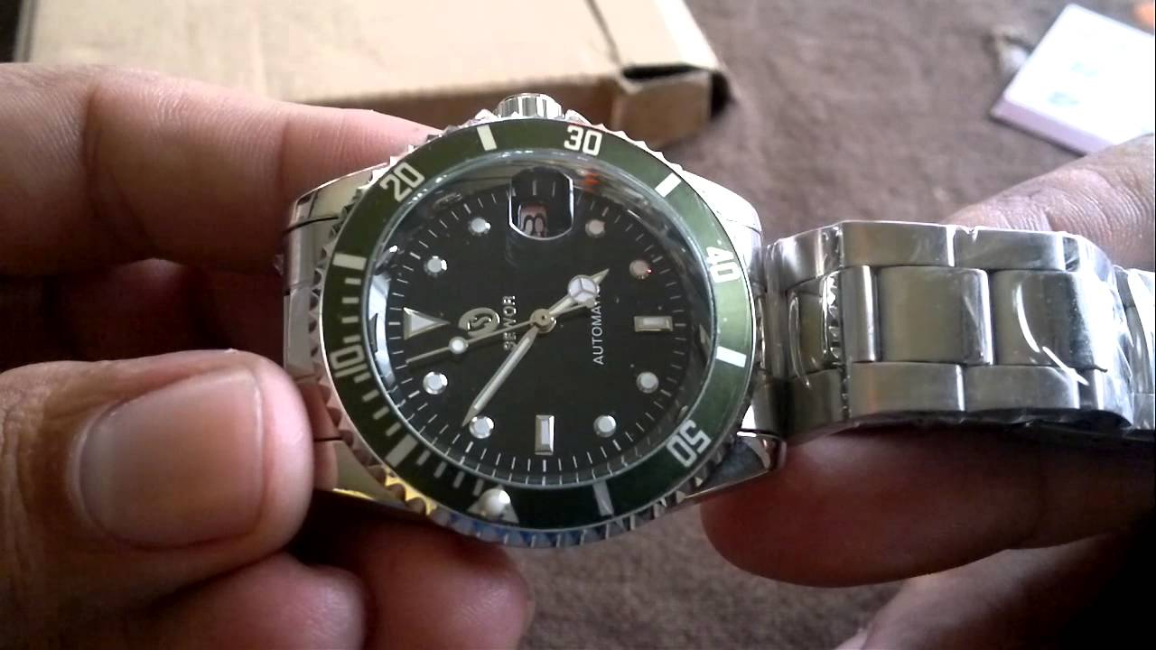 e5821ac5ab5 Unboxing Aliexpress Relógio Sewor(réplica Rolex Submariner) - YouTube