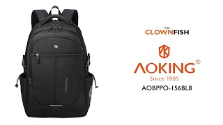 Aoking Polyester Laptop Backpack (AOBPPO-156BL8)