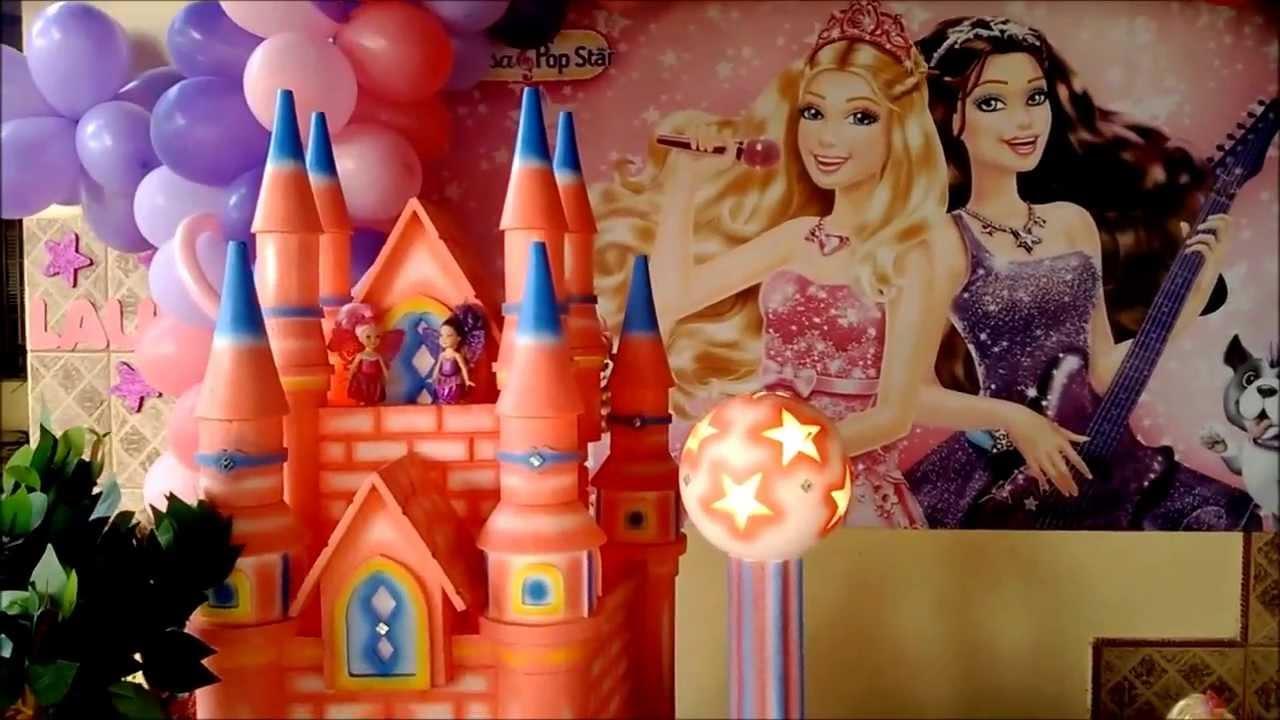 Decora??o da Barbie a Princesa e a Popstar - Big Festa ...