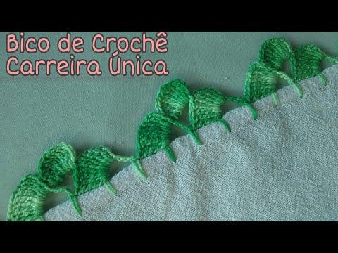 BICO DE CROCHÊ CARREIRA ÚNICA #58