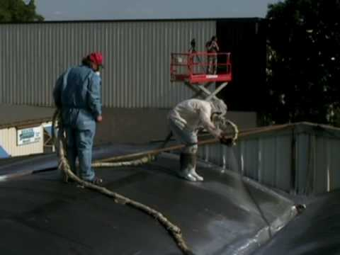 Spray Applied Roof Coating And Spray Foam As Applied By Insulation Works LLC