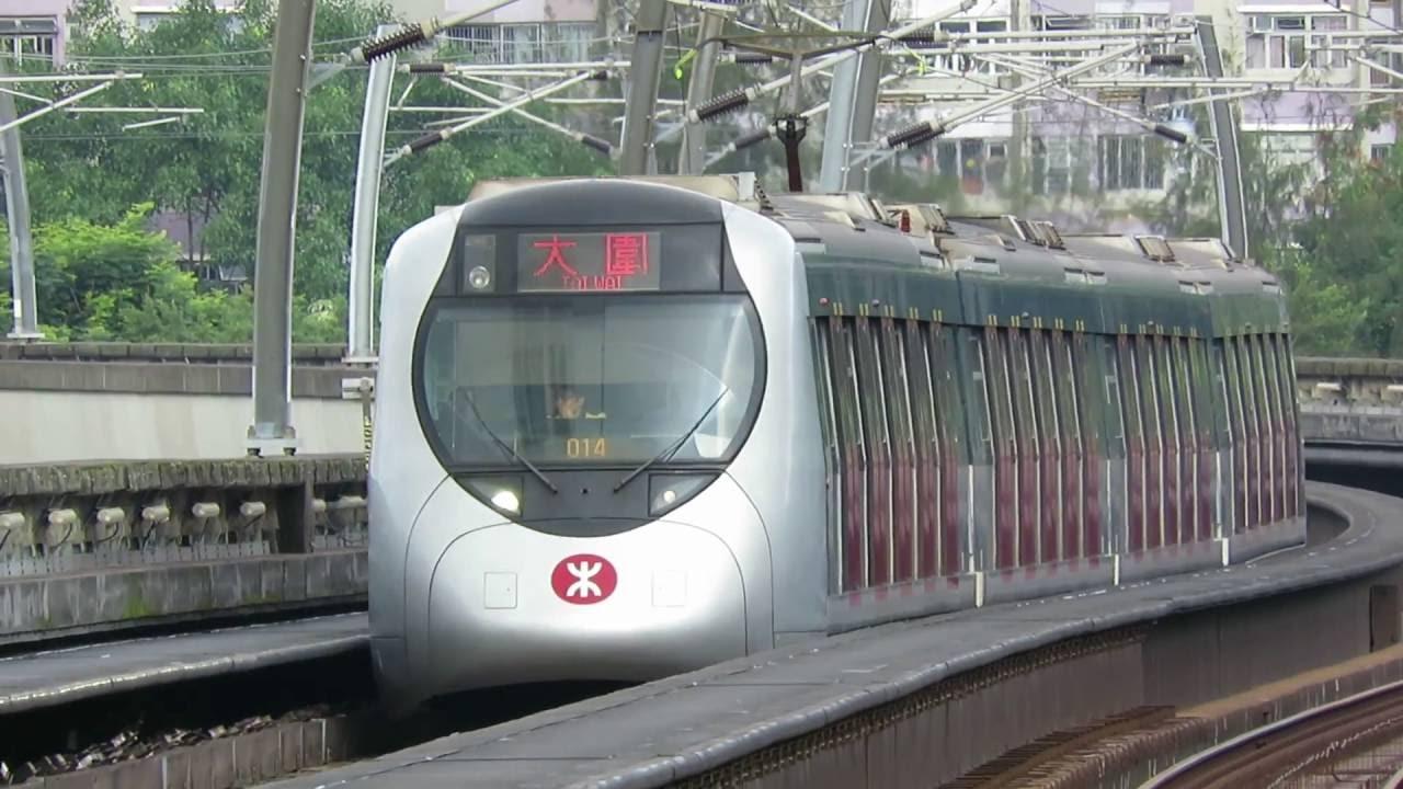 【街坊鐵路】MTR MOL SP1950 (D511/D512)&(D515/D516) 分別駛入和駛離車公廟站(二台攝)