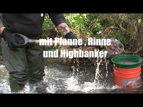 Goldwaschen in Deutschland - auf eigenem Kanal
