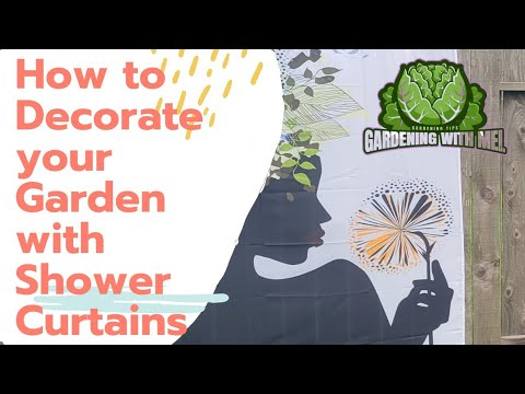 How to Decorate your Garden with Shower Curtains