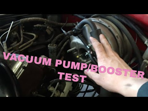 How To Check Vacuum Pump And Brake Booster 1st Gen Mins