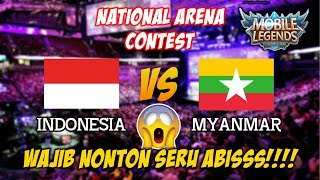 Indonesia Menang Telak Atas Myanmar National Arena Conetst Mobile Legends Terbaru 2018