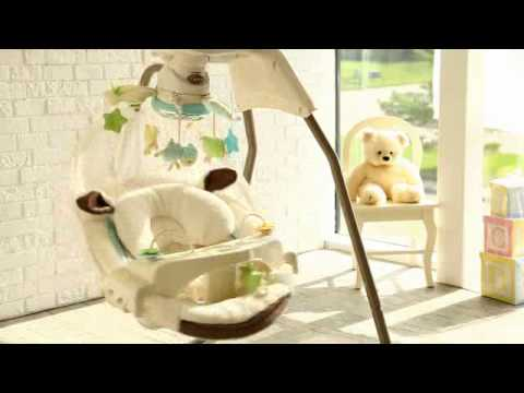 Fisher Price My Little Lamb Cradle Baby Swing - Product Review Video