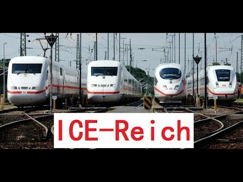 All ICE trains: ICE 1,ICE 2,ICE 3,ICE T,ICE TD,ICE Velaro D,ICE MET,ICE 4