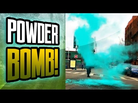 HOW TO MAKE A POWDER BOMB! COLORFUL SCIENCE PRANK!