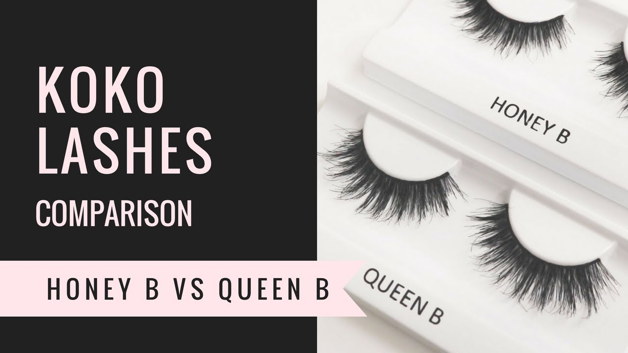 65663db04b1 KOKO LASHES - HONEY B vs QUEEN B - COMPARISON - YouTube